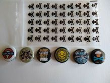 Set de 6 badges Johnny Cupcakes