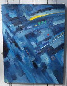 Peinture abstraite à l'huile
