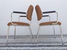 4 fauteuils années 70 vintage