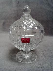 Bonbonnière Sucrier en Cristal d'Arques Paris - France
