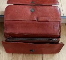 Portefeuille femme TEXIER  en cuir (des années 60-70)