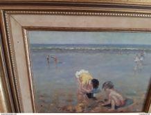 Tableau d'enfants sur la plage