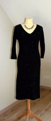 KAMOSHO / Robe de soirée noire et argentée taille 2