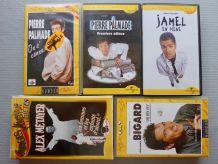 Lot de 5 cassettes  vhs d'humoristes
