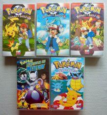 Lot de 5 cassettes VHS de Pokémon