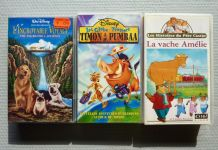 Lot de 3 cassettes DVD pour enfants (Disney & Père Castor)