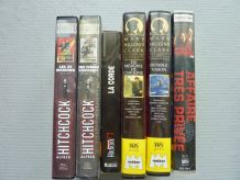 Lot de 6 cassettes video (VHS) - Maîtres du suspense