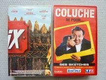 2 cassettes comiques - *Coluche  *Astérix contre César