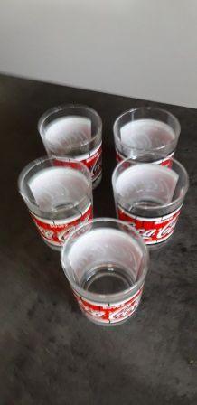 5 verres a whisky coca cola vintage