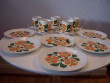 Assiettes tasses vintage Norvège STAVANGERFLINT années 70