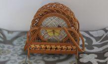 6 dessous de verre en bambou décor papillon