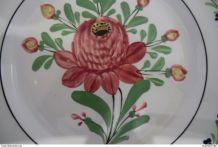 Assiette de Creil & montereau - décor fleur  - fin XIXe