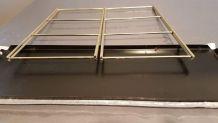 petite étagère string 2 plateaux métal noir  structure dorée