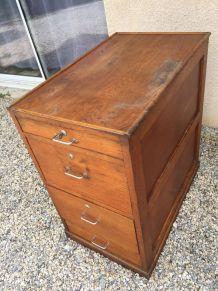 Meuble rangement a tiroirs en bois