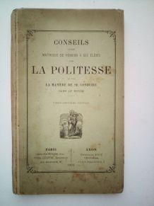 Livre 1894 conseils sur la politesse et manière de se condui