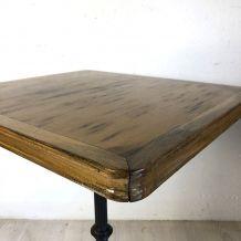 Table bistrot bois et fonte