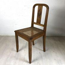 Paire de chaises cannées vintage 50's