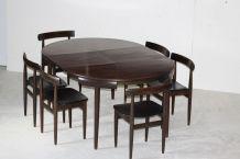 Hans Olsen - Frem Rojle - Table ronde et 6 chaises