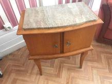 Table de nuit vintage dessus marbre