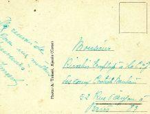carte postale n et b grand hôtel Ajaccio vers 1920