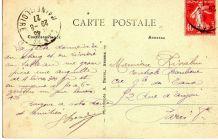 carte postale n et b château de Challain la Potherie 1927