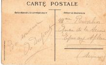 carte postale colorisée Bagnères de Bigorre 1918  ?