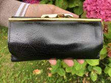 Porte monnaie en cuir Vintage