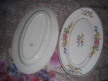 petits plats longs faience