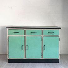 Buffet en formica vert vintage 60's