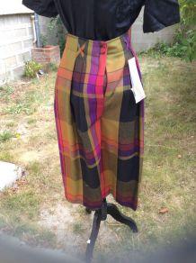 Jupe culotte short vintage tartan