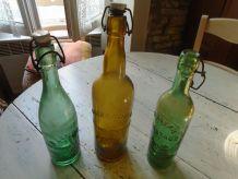 3 bouteilles de bière de Limoges 1950