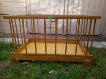 parc enfant/bébé en bois rétro vintage