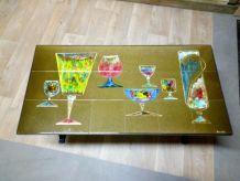 Table basse en céramique signée