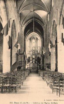 carte postale n et b Eglise de St Malo vers 1920