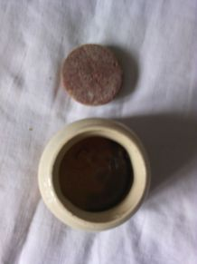 Ancien pot à moutarde Dijon BORNIER en céramique