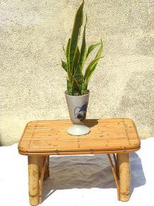 petite  table  ou banc  en bambou , vintage