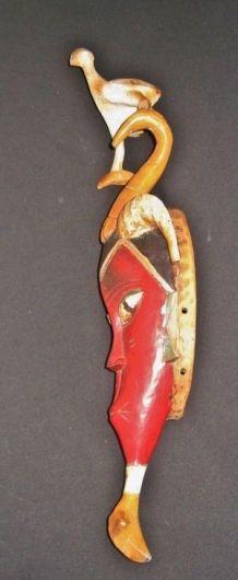 Masque Africain Ethnique  GOURO de la  Cote  D'IVOIRE