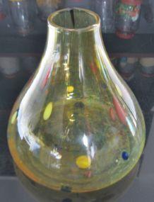 Vase Verre Souffle, Spatter glass