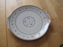 grand plat a gâteau   porcelaine de Limoges Bernardaud
