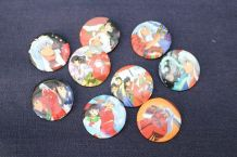 LOT BADGES INUYASHA MANGA