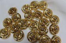 lot de 20 boutons doré vintage 1975