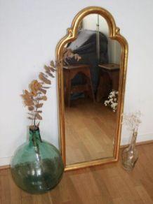 Grand miroir ancien doré