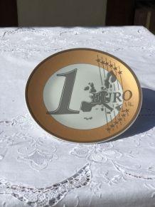 """Assiette de collection """"1 euro"""""""
