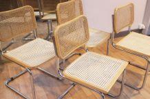Série de 4 chaises Cesca B32 Breuer