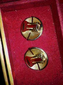 Boucles d'oreilles dorées;vintage