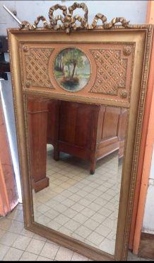 Grand miroir trumeau d'époque