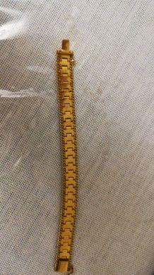 Bracelet plaqué or ancien
