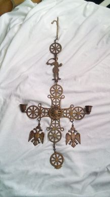 bougeoir chandelier croix orthodoxe