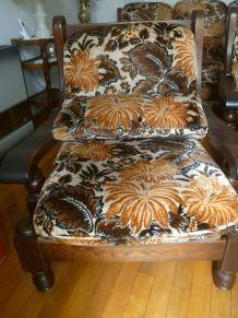 canapé avec 2 fauteuils , vintage