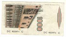 billet de l'Italie de 1000 lire le 3 octobre 1990